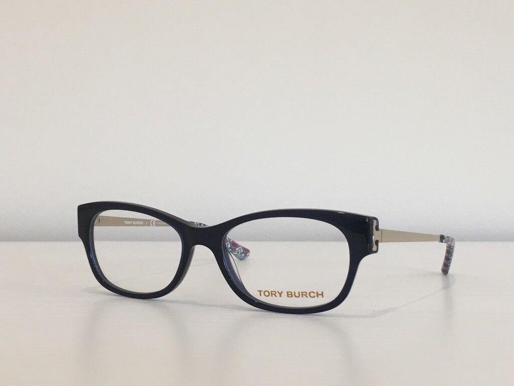 100 Tory Burch TY 2035 511 Rectangle Blue Gold Eyeglasses Optical Frame50*16*135