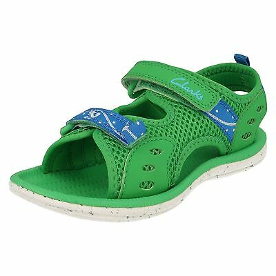 Boys Clarks Piranha Boy Synthetic Washable Casual Doodles Sandals