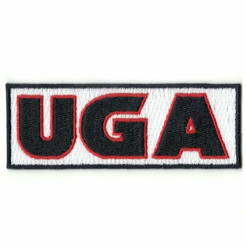 UGA Logo Embroidered Iron On Patch