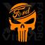 Ford Punisher skull dicut vinyl decal f150 powerstroke mustang 14 COLORS 3 SIZES