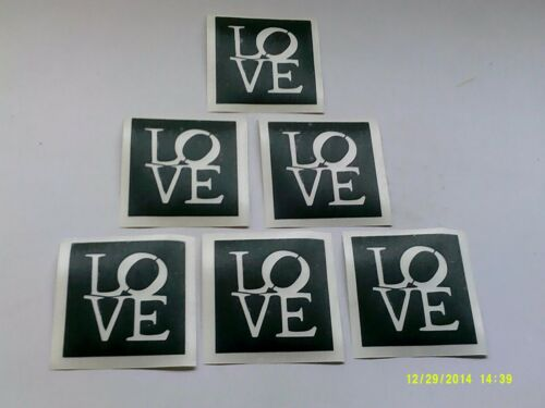 20-500 Love word stencils for etching on glass  Wedding  favor gift  craft
