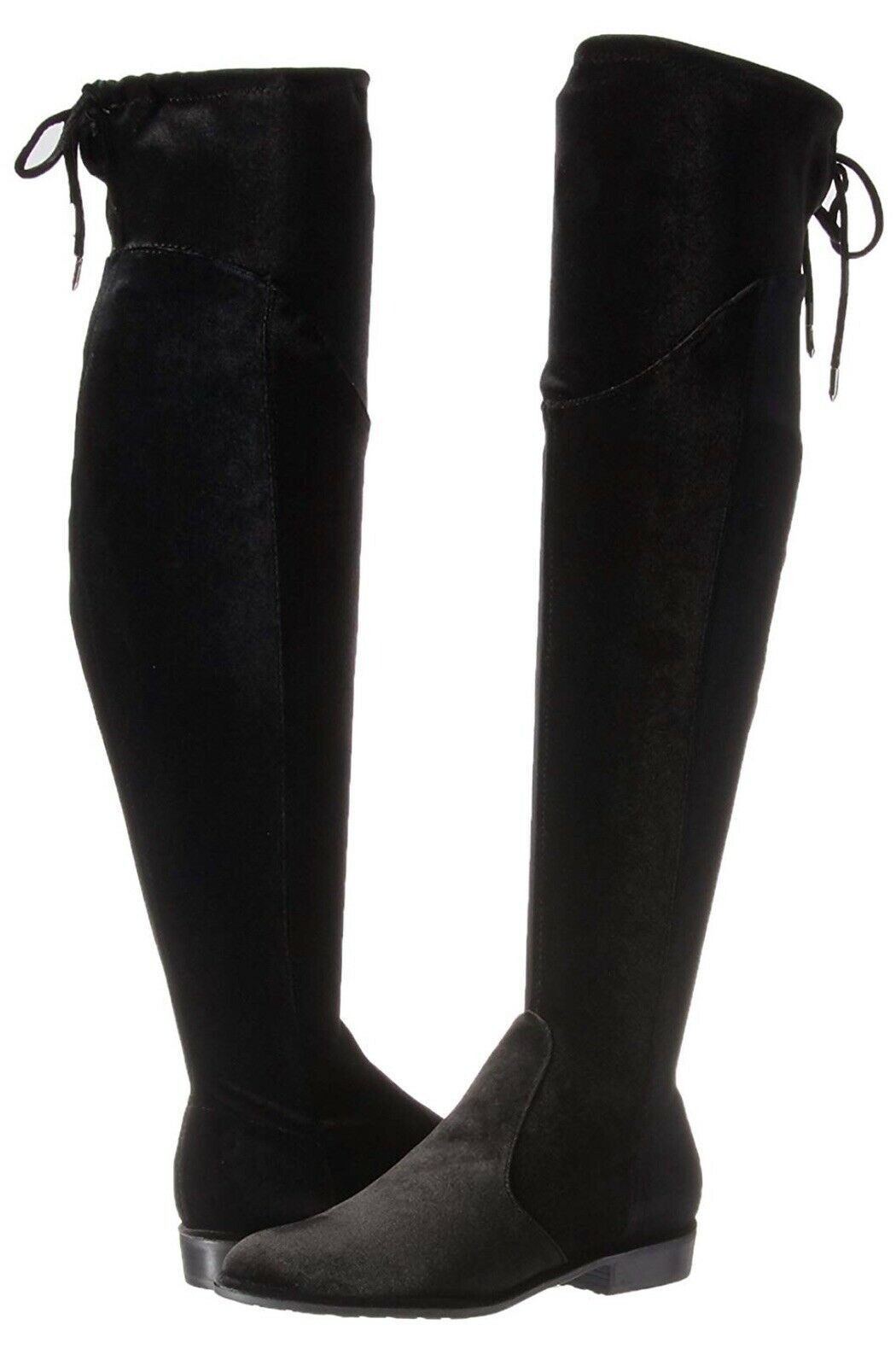 Marc Fisher Faux Suede Velvet Over-the-Knee Boots Hulie Black 6 M NEW A295022