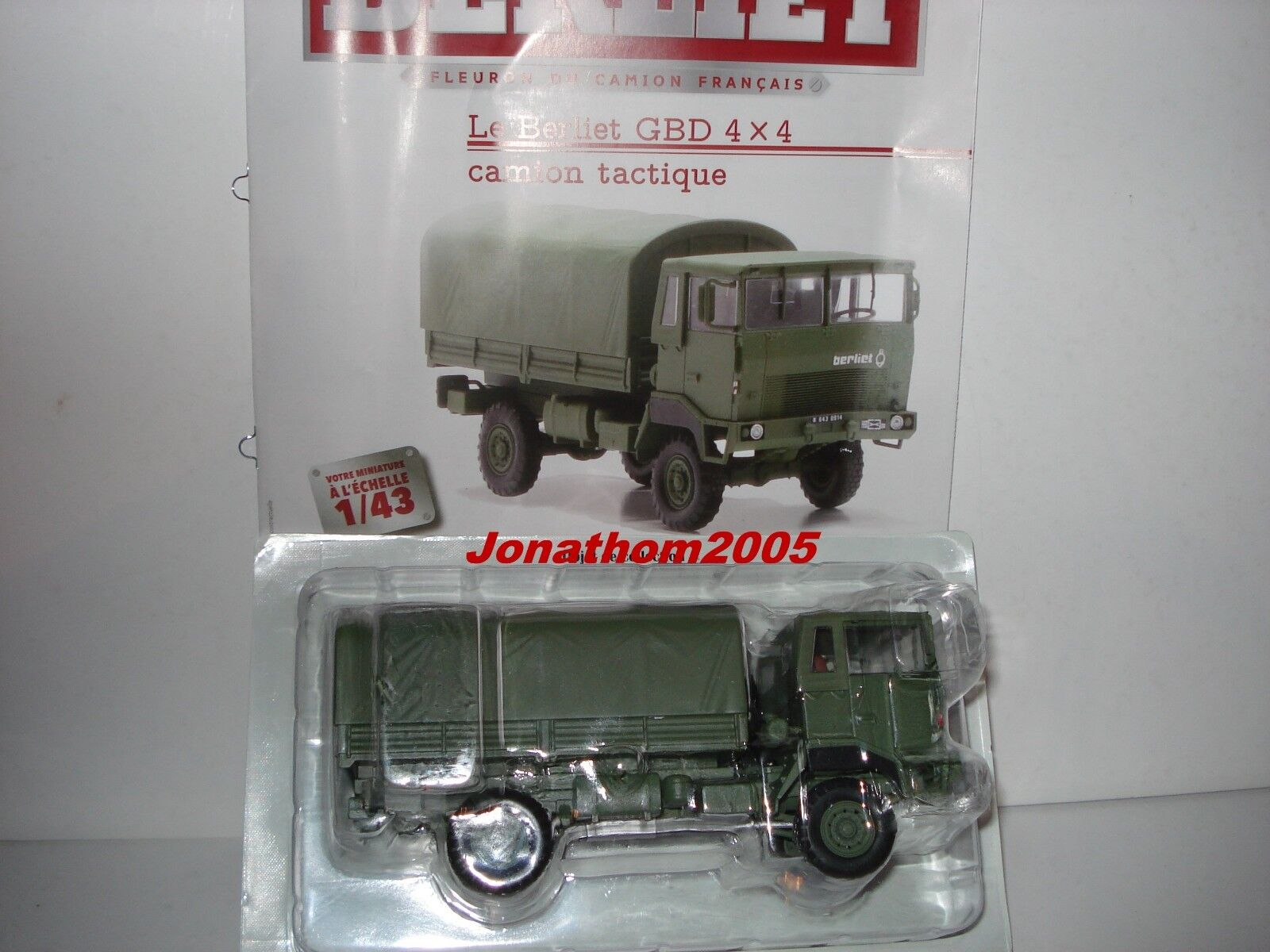COLLECTION BERLIET - GBD 4X4 REINFORCED FRENCH 1973 au 1 43°