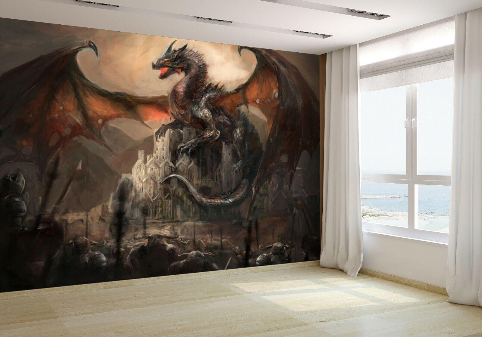 War con la Dragon en Castillo Papel Pintado Mural Fotografía 29391993 Económico