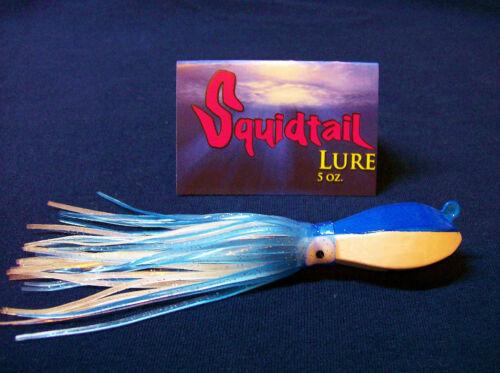 GLOW JIG LUCANUS STYLE  W// SQUID SKIRTS 5OZ SQUIDTAIL JIGS 7