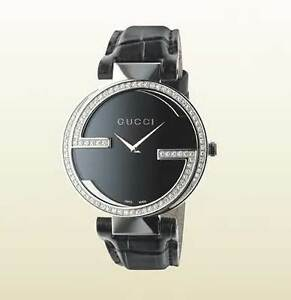 e7031cc8f11 Image is loading Gucci-Interlocking-G-Collection-Watch-With-Diamonds- YA133306-