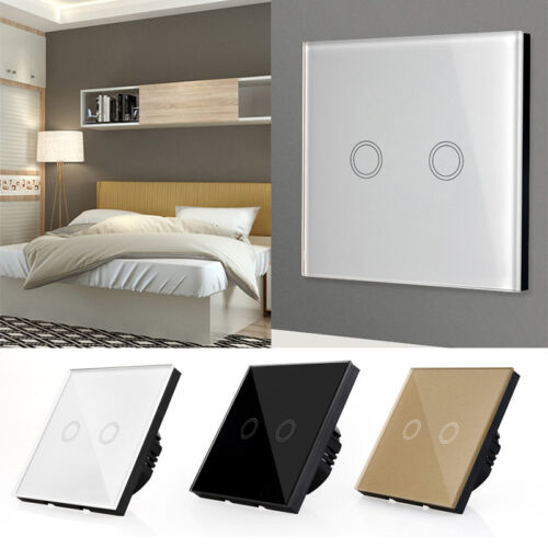 1//2//3Gang WiFi Smart Touch Panel Power Switch Wall Light Voice Remote Control QL