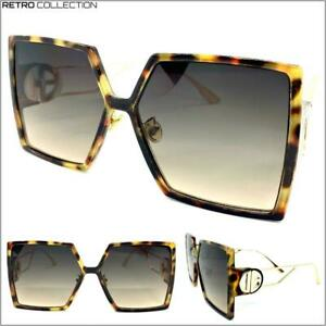 Vintage Style Sunglasses Leopard Over Sized