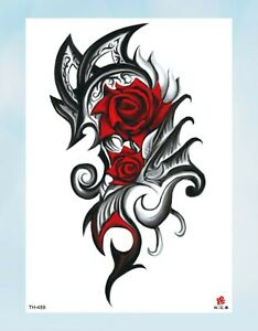 Wrist Bracelet Tattoos Retro Rose 8 25 Amp Amp Quot Temporary Arm Tattoo Ebay