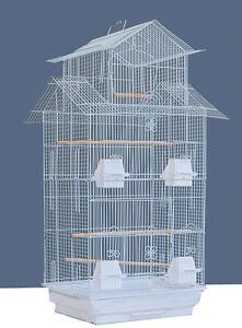 """NEW LARGE Tall Pagoda Roof Bird Cage 3/8-Inch Bar Spacing, 18"""" x 14"""" x 39""""H 258"""