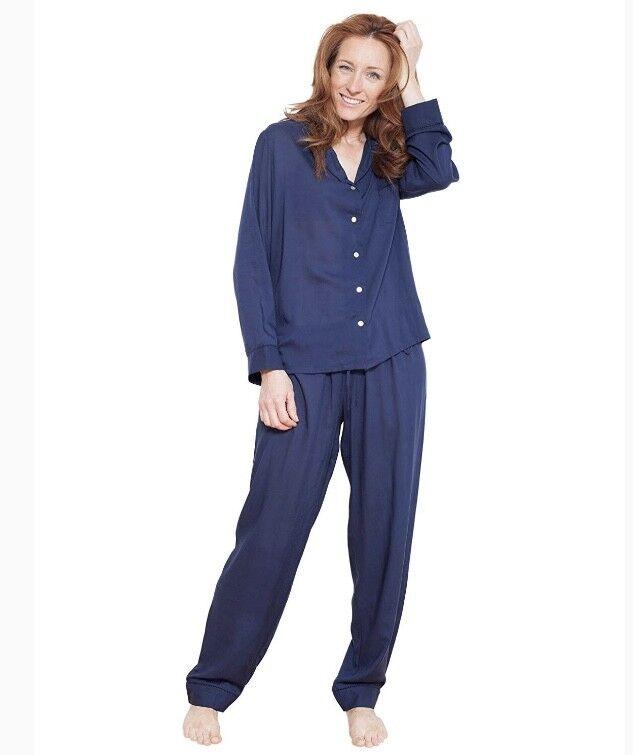 Cyberjammies Nora pink Woven Pyjama Set Navy RRP .00 BNWT