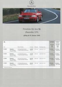 Mercedes-Benz-R-129-280-SL-320-SL-500-SL-600-SL-Preisliste-2000