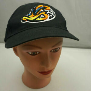 Akron-Rubberducks-Hat-Kids-Black-Stitched-Adjustable-Baseball-Cap-Pre-Owned-ST20