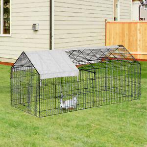 Outdoor-87-034-Large-Dog-Kennel-Crate-Pet-Enclosure-Playpen-Run-Cage-House-w-Cover