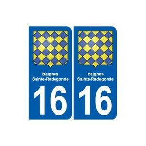 16 Baignes-sainte-radegonde Blason Ville Autocollant Plaque Sticker