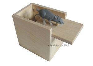 Wood-Wooden-Prank-Box-w-MOUSE-Funny-Practical-Joke-Gag-Gift-Made-in-USA