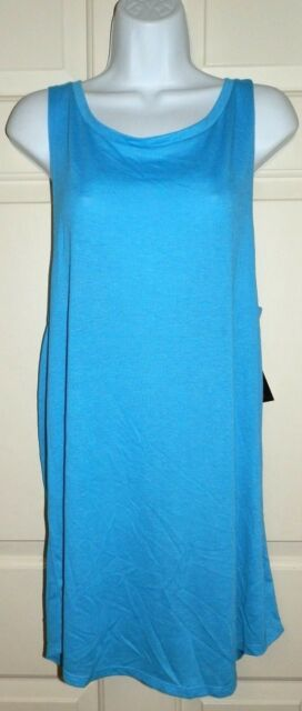 7ac49999705 No Boundaries Juniors Twist-back Dress Swim Cover-up Blue Large for ...