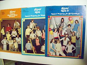 3-GYPSY-KNITTING-PATTERN-BOOKS-UNISEX-WOMEN-amp-MEN-039-S-BOYS-amp-GIRLS-UNISEX-l-amp-II