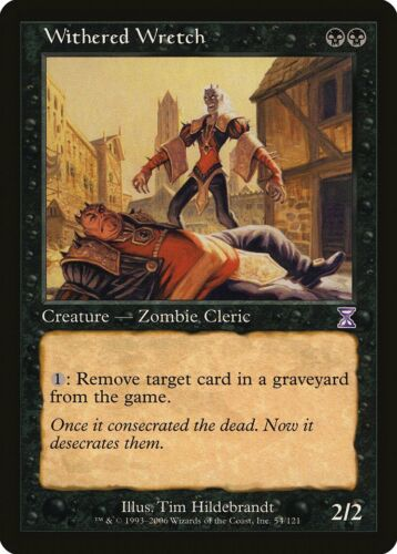 Timeshifted NM Black Special MAGIC CARD ABUGames Withered Wretch Time Spiral