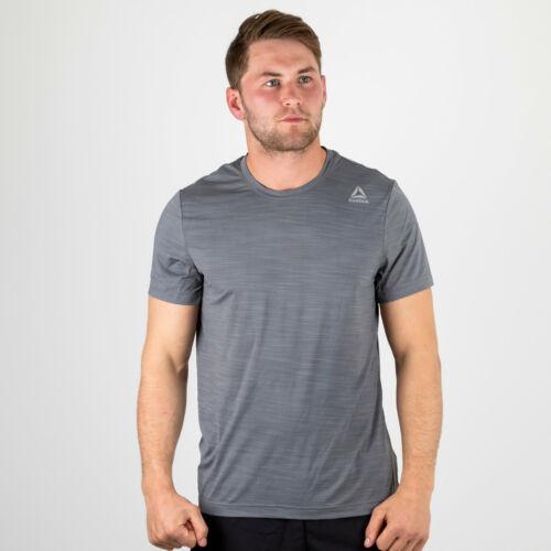 Reebok Mens Activchill Short Sleeve Training T-Shirt Grey Top Sports Activewear
