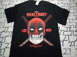 New Nerd Block Deadpool Wilson/'s Mercenary Men/'s Shirt