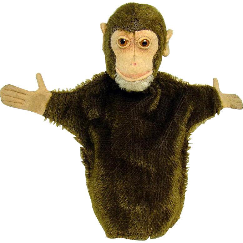 Early Steiff Jocko el mono Mohair marioneta de mano-década de 1920