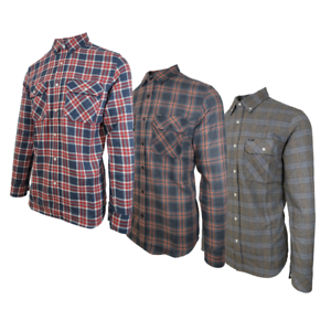 Rip-Curl-Men-039-s-Red-Blue-White-Plaid-Light-Weight-L-S-Flannel-Shirt-Size-M