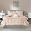 Intelligent-Design-Khloe-Comforter-Set-Twin-4-Piece-Blush-Pink-and-Gold-New miniature 1