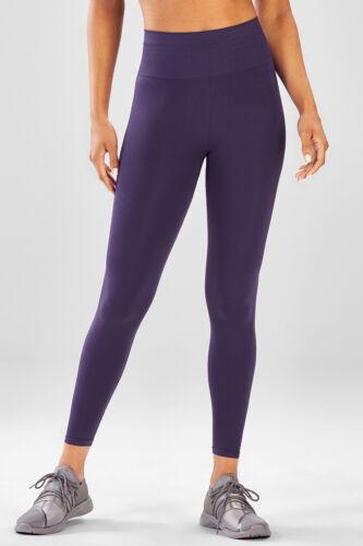 Fabletics Seamless High-Waisted Solid Legging Indigo L 10-12 Short Black XL