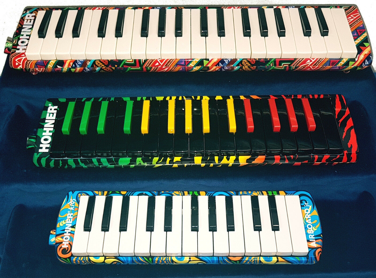Mélodica HOHNER AIRBOARD   Rasta   Junior touches piano 25, 32 ou 37 notes.