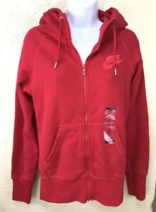 2afce011140 Details about Nike Limitless Chest Hoodie Red Womens Size Medium Full Zip  NWT