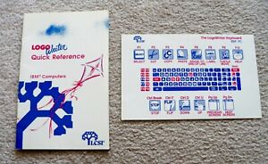 LCSI-LOGO-Writer-Rare-Quick-Reference-Guide-IBM-Computers-amp-Keyboard-Card