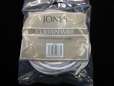 5mts de câble pour rideaux Jones stretch printemps net voile tissu fil + 5 crochets 5 yeux