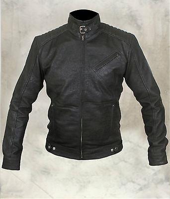 Bourne Legacy Jeremy Renner Genuine Sheep Leather Distressed Look Jacket (Black)