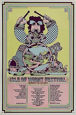 Isle Of  Wight Festival-August 26-30 1970  concert poster