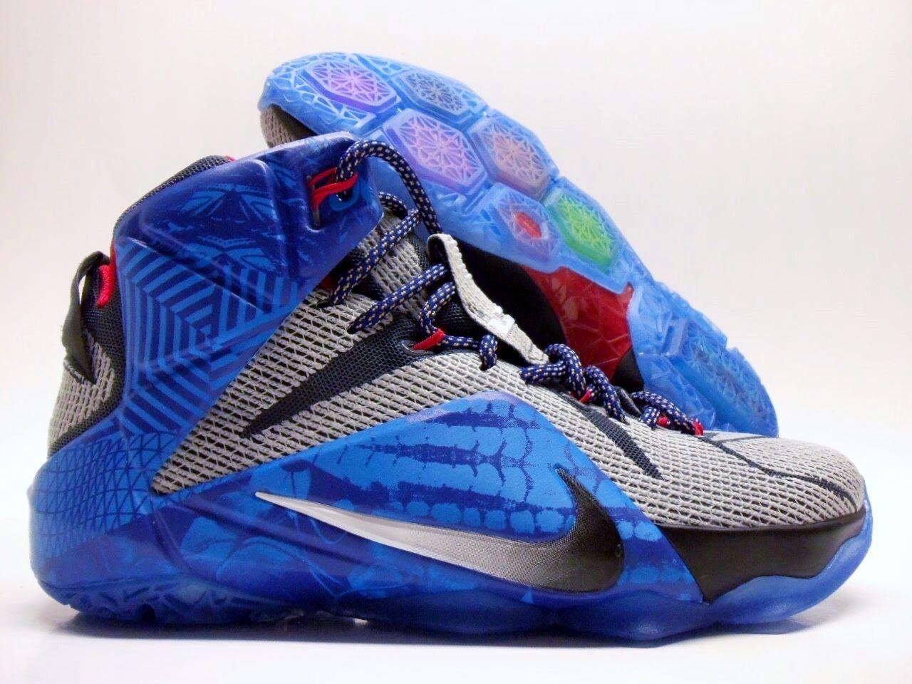 Nike lebron xii 12 id james lebron grigio / blu dimensioni uomini [799181-983]