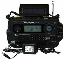 Used Kaito KA600 Solar Crank AM FM Emergency Weather Radio + AC Adapter