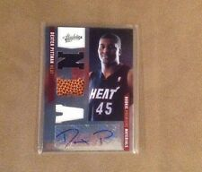 Dexter Pittman 2011 Rookie Premiere Materials Patch Ball Autograph #/499 Heat