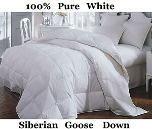 15bdf1f883f2 Luxury King Bed Size 13.5 Tog 100% Pure Siberian Goose Down Duvet ...