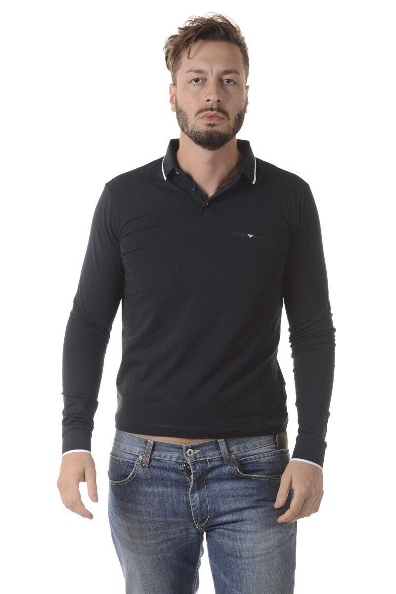 Polo Emporio Armani EA7 Shirt Cotone  Herren Blu 6YPF62PJ03Z 1578
