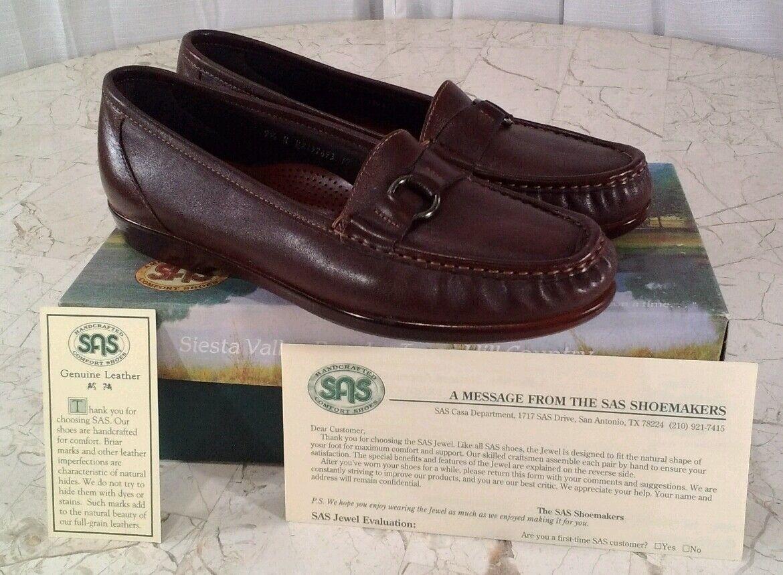 SAS JEWEL CINNAMON BROWN LOAFER DRESS Schuhe WOMEN'S SIZE 9.5N NWB