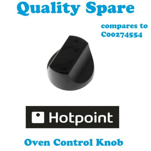 HOTPOINT ARISTON Cooker Oven Control Knob Dial Switch Black