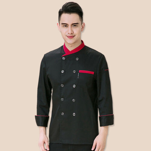 Unisex Double Breasted Cook Suit Long-sleeve Clothes Chef Uniform Chef Coats