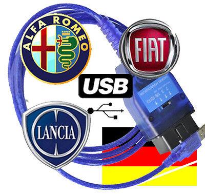 ALFA LANCIA FIAT DIAGNOSE OBD OBD1 OBD2 EOBD USB INTERFACE