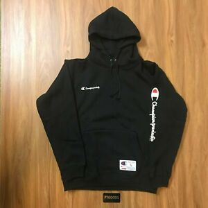 Details about Supreme x Champion Black Hoodie (Large)