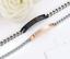 Coppia-Bracciale-Uomo-Braccialetto-Donna-Acciaio-Inox-Steel-Fidanzamento-Regalo miniatura 4