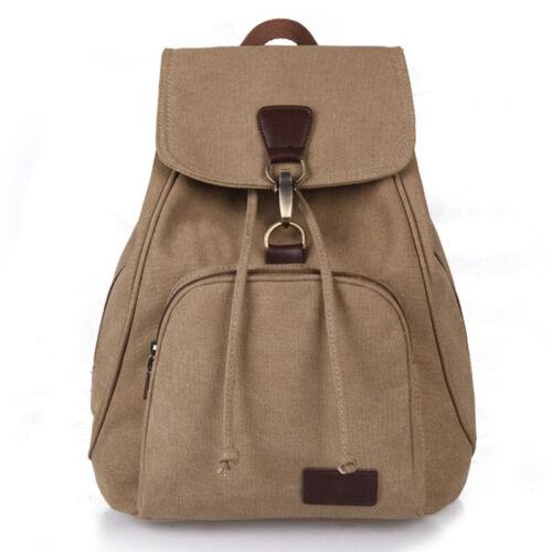 Womens Vintage Canvas Backpack College School Shoulder Bag Travel Denim Rucksack