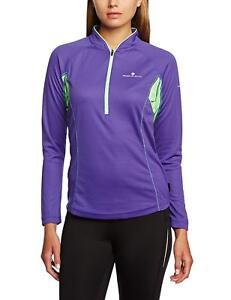 Ronhill-Trail-Long-Sleeved-Zip-Running-Tee-Shirt-RH-000589-UK-10-US-S-BNIP