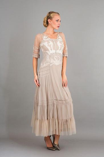 40246 Vestido Victoriano Romántica Nataya Marfil S-3XL Vintage  inspirado  Web oficial