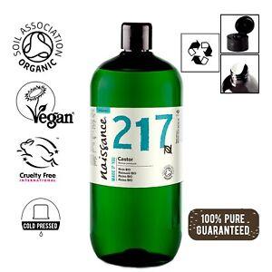 Naissance Rizinusöl BIO - 1 Liter (1000ml) - 100% rein kaltgepresst vegan